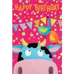 verjaardagskaart busquets - happy birthday - koe