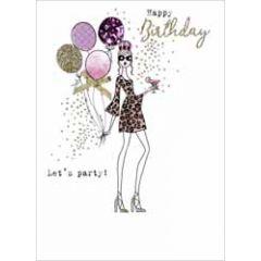 verjaardagskaart - happy birthday let s party