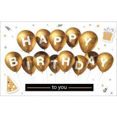 verjaardagskaart - happy birthday to you - ballonnen