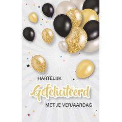 verjaardagskaart - hartelijk gefeliciteerd met je verjaardag - ballonnen