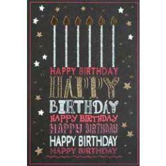 verjaardagskaart busquets fluor - happy birthday - kaarsjes