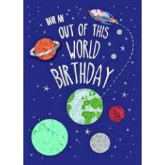 verjaardagskaart - have an out of this world birthday