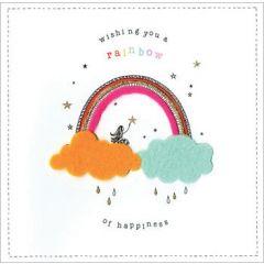 verjaardagskaart - wishing you a rainbow of happiness
