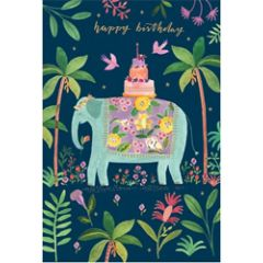 verjaardagskaart roger la borde - happy birthday - olifant