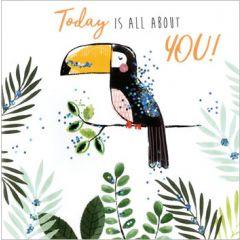 verjaardagskaart sparkle dust - today is all about you! - toekan