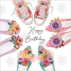 verjaardagskaart second nature - happy birthday - schoenen