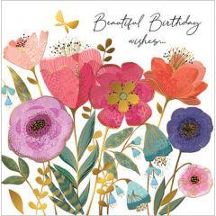 verjaardagskaart second nature - beautiful birthday wishes... - bloemen