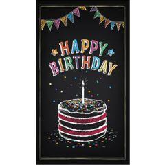 verjaardagskaart - happy birthday - vlaggetjes en taart