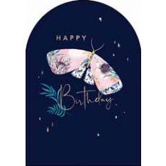 verjaardagskaart woodmansterne amelie - happy birthday - vlinder
