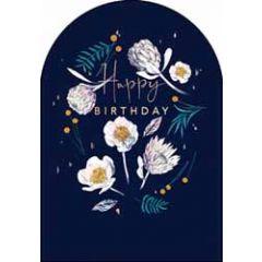 verjaardagskaart woodmansterne amelie - happy birthday - bloemen