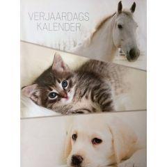 verjaardagskalender - kittens puppies en paarden