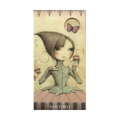 5 kartonnen nagelvijltjes - santoro mirabelle - vlinder