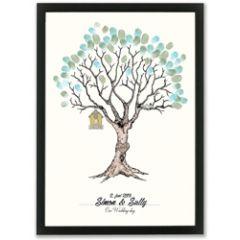 vingerafdruk poster a3 - huwelijksboom