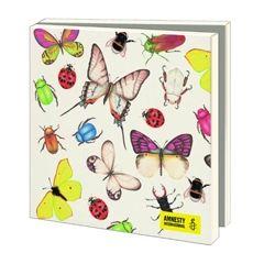 10 wenskaarten voor amnesty international - vlinders en insecten