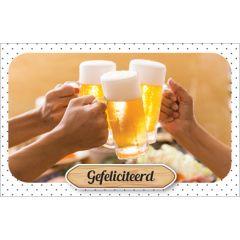 wenskaart - gefeliciteerd - bier
