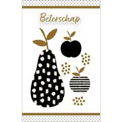 wenskaart - beterschap - peer en appels