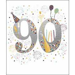 90 jaar - grote verjaardagskaart woodmansterne