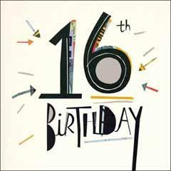 16 jaar verjaardagskaart woodmansterne - 16th birthday