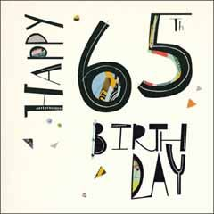 65 jaar verjaardagskaart woodmansterne - happy 65th birthday