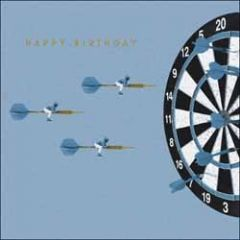 verjaardagskaart woodmansterne - happy birthday - darten