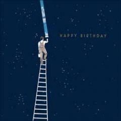 verjaardagskaart woodmansterne - happy birthday - sterrenhemel