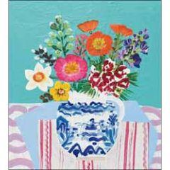 wenskaart woodmansterne - vaas met bloemen