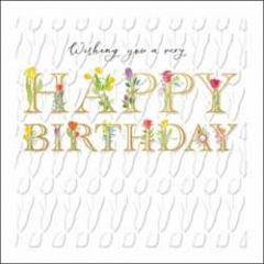 luxe verjaardagskaart woodmansterne - wishing you a very happy birthday