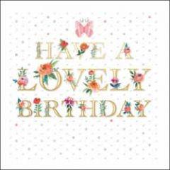 luxe verjaardagskaart woodmansterne - have a lovely birthday