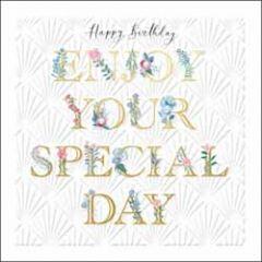 luxe verjaardagskaart woodmansterne - happy birthday - enjoy your special day