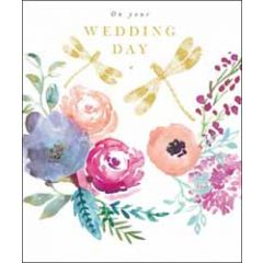 grote trouwkaart woodmansterne - on your wedding day - libelles en rozen