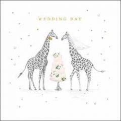trouwkaart woodmansterne - wedding day - giraffes