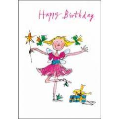 verjaardagskaart woodmansterne - happy birthday - elfje