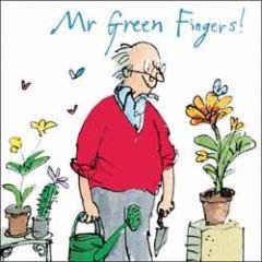 verjaardagskaart woodmansterne - mr green fingers - planten