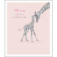 grote moederdagkaart woodmansterne - with love on mother's day - giraffes