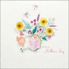 moederdagkaart woodmansterne - relax on Mother's day - bloemen en boek