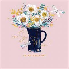 moederdagkaart woodmansterne - to a special mum - bloemen in vaas