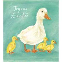 5 paaskaarten woodmansterne - joyous easter -  eenden