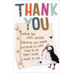 wenskaart - thank you
