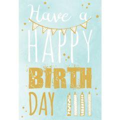 verjaardagskaart golden touch - have a happy birthday