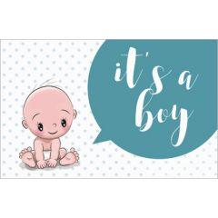 geboortekaartje - it's a boy - baby