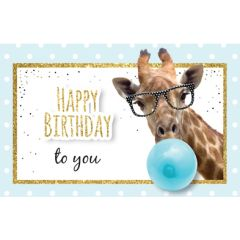 verjaardagskaart - happy birthday to you - giraffe