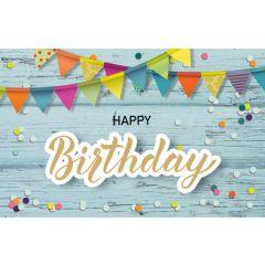 verjaardagskaart - happy birthday - vlaggetjes