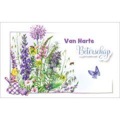 beterschapskaart - van harte beterschap - bloemen