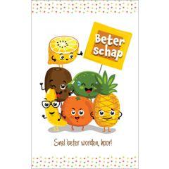 beterschapskaart - beterschap snel beter worden, hoor! - fruit
