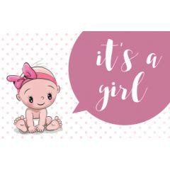 geboortekaartje - it's a girl - baby