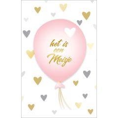 geboortekaartje - het is een meisje - ballon