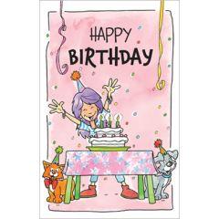 verjaardagskaart - happy birthday - taart