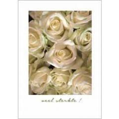wenskaart - veel sterkte - rozen