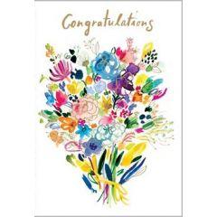 felicitatiekaart roger la borde -  congratulations - bos bloemen
