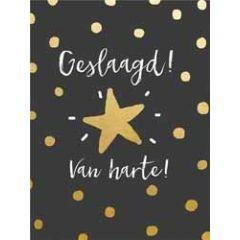 felicitatiekaart  piano small notecards - geslaagd! van harte!
